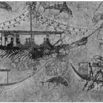 Фреска-миниатюра из Феры, Морской праздник. XVI в. до н.э.