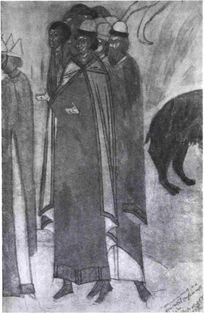 Рис. 4. Дионисий. <Русь» (фрагмент фрески «Страшный суд»; с копии автора)