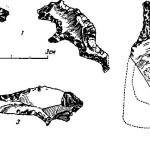 Рис. 57. Изображения из кремня. 1 — стоянка Багон-отмель; 2 — стоянка Поганый Куст; 3 — стоянка Федорова Будка.