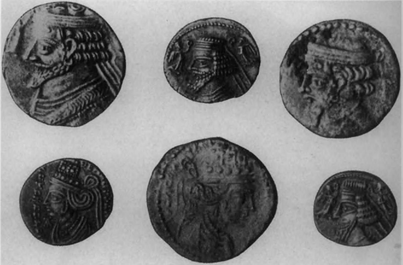 72.Парфянские монеты царя Фраатака и его матери Музы