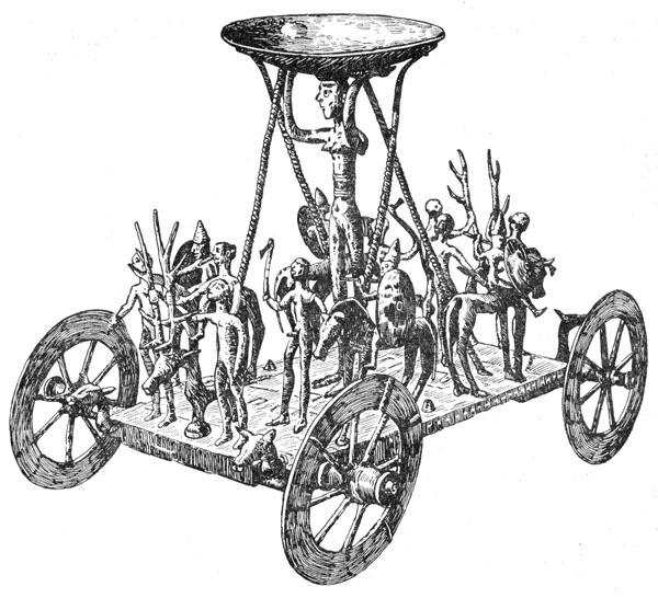 Рис. 14. Бронзовая ритуальная колесница из могильника у с. Штретвег (Австрия)