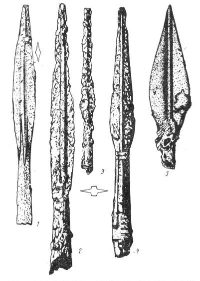 Рис. 19. Железные ножи из Гальштатского могильника