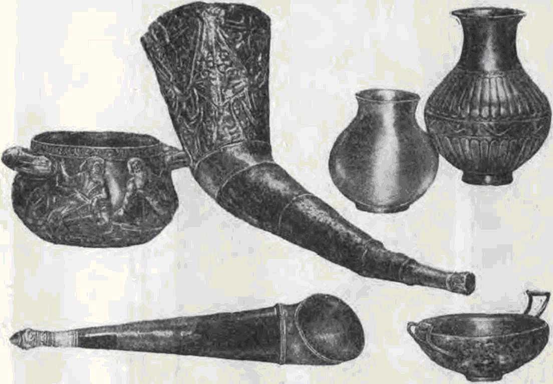 Драгоценный сервиз на тайника погребения Гаймановой могилы IV в. до н. а.
