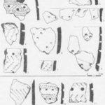 Рис 1. Керамика стоянок Кожух I (1-8) и Большой Берчикуль 7 {9 15). Рисунки выполнены С.Н. Леонтьевым