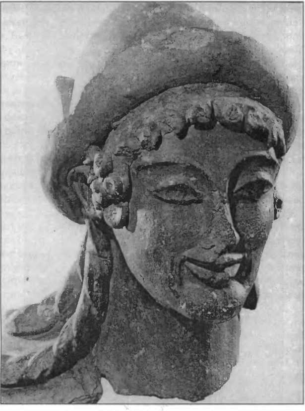 Голова статуи Гермеса. Работа шкалы Булки. Вейи (Портоначчо). Ок. 500г. дон.э.