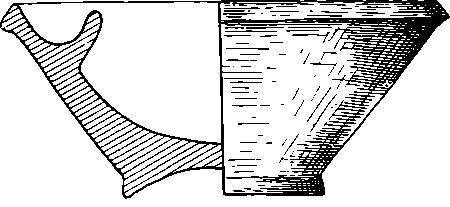 Рис. 7. Глиняная курильница из могильника у хут. Кубанского (профиль).
