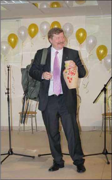 И.Г. Глушков на вечере в честь своего 50-летнего юбилея. г. Сургут. 5 февраля 2008 г.