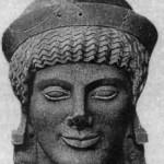Голова Афины с западного фронтона храма Афайи в Эгине. Ок. 500 г. до н.э.