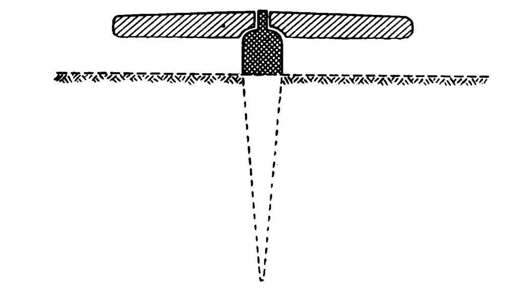Рис. 7. Реконструкция гончарного круга из Ура (профиль)