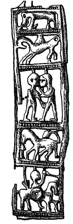 Рис. 53. Оковка ножен меча из могильника в Гриневе