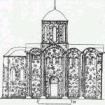 Коложская церковь. (Реконструкция Н. Н. Воронина.)