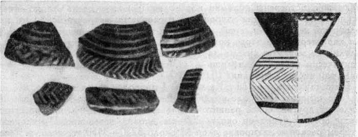 Рис. 4. Халафская керамика Тилки-тепе III (по К. Биттелю).