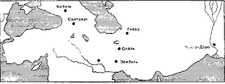 Рис. 10. Карта распространения наверший булав