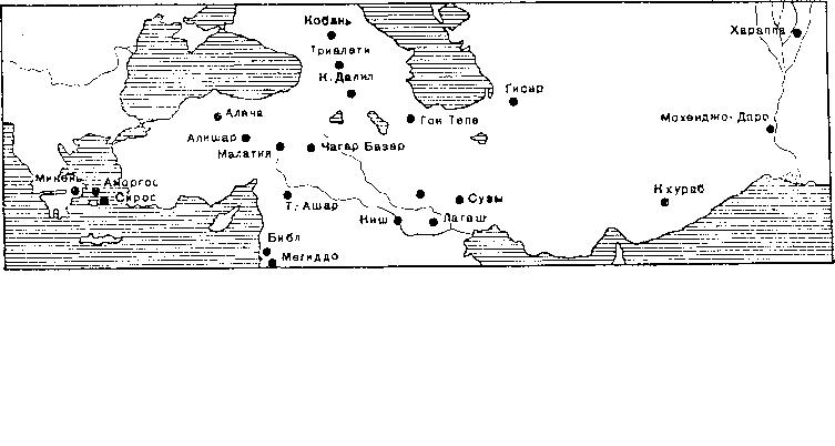Рис. 7. Карта распространения булавок