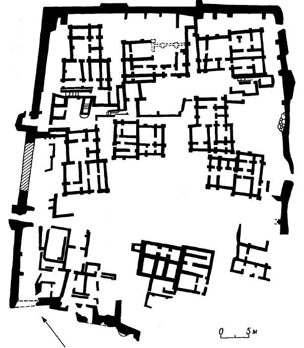 Рис. 16. Телль-эс-Савван. План поселения.