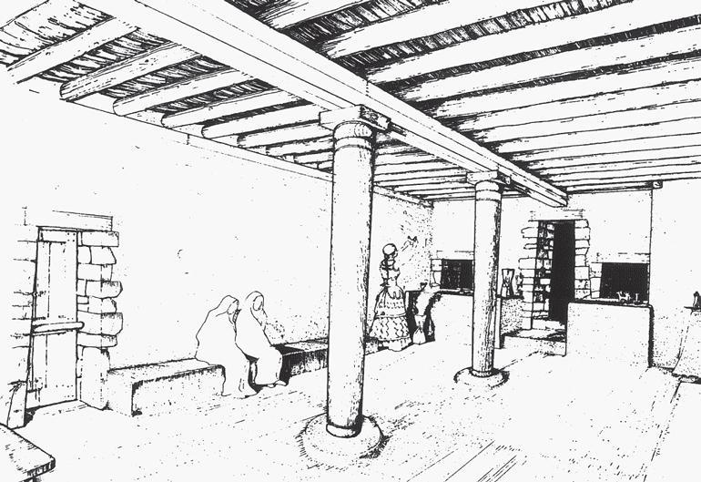 Рис. 17.6. Реконструкция западного храма в Филакопи, выполненная Алексом Дейкин