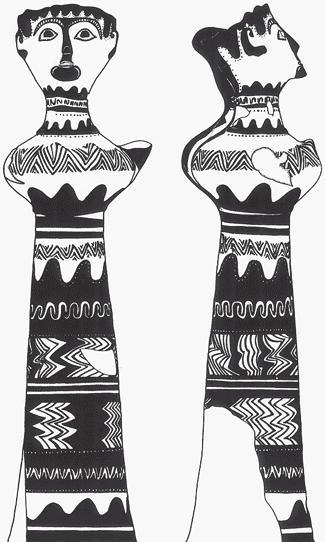 Рис. 17.5. «Леди из Филакопи», Мелос, Греция. Одна треть от натуральной величины