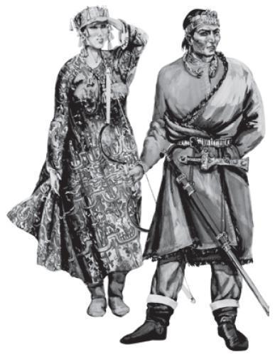 Рис. 4.6. Хунну. Реконструкция М.В. Горелика