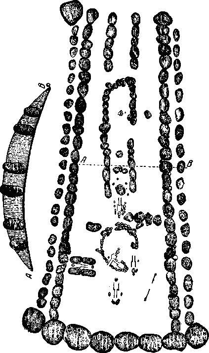 Рис. 95. Куявский могильник (Сверчин). По Козловскому.