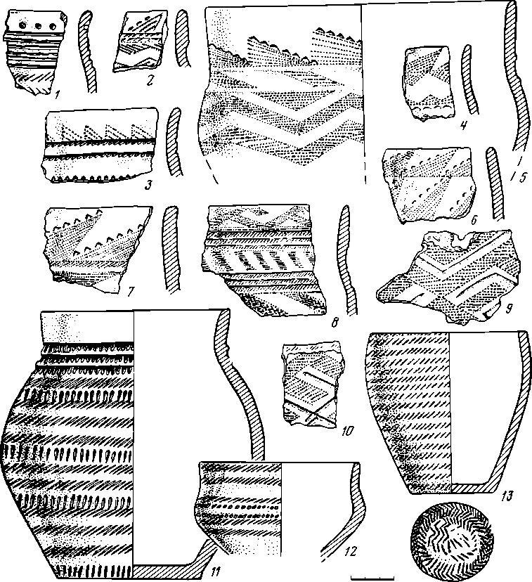 Рис. 3. Керамика эпохи бронзы