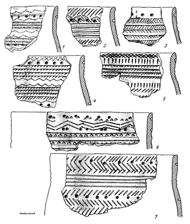 Рис. 4. Керамика эпохи бронзы