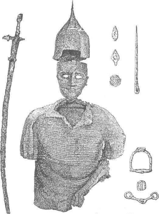 Рис. 23. Інвентар із поховання кочівника поблизу с. Берестняги у