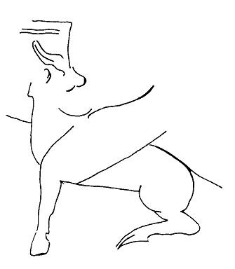 Рис. 2. Фигура крылатого коня. Персеполь