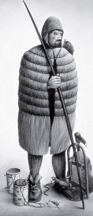 """Рис. 4.7. Реконструкция «Ледяного человека """"Отци""""» с ледника Симилаун, европейские Альпы"""