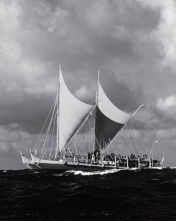 Рис. 3.4. Полинезийское судно — каноэ «Хокулеа»