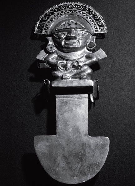 Церемониальный нож народа шиму, северное побережье Перу, XII–XIII века н. э.