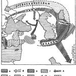 Рис. 13. Расселение древнеевропейцев по Т. В. Гамкрелидзе и Вяч. Вс. Иванову: а — предполагаемая первоначальная территория индоевропейского праязыка. 6 — миграция древнеевропейцев; в — области расселения иранцев и направления их миграций; г — митаннийский арийский диалект; д — возможные пути индоарийцев через Кавказ; е — протоармякский ареал; ж — догреческий (Аххияво) ареал; з — анатолийские (хеттский, лувийский и палайский) языки; и — направления поздних переселений дорийских племен; к — индоарийцы