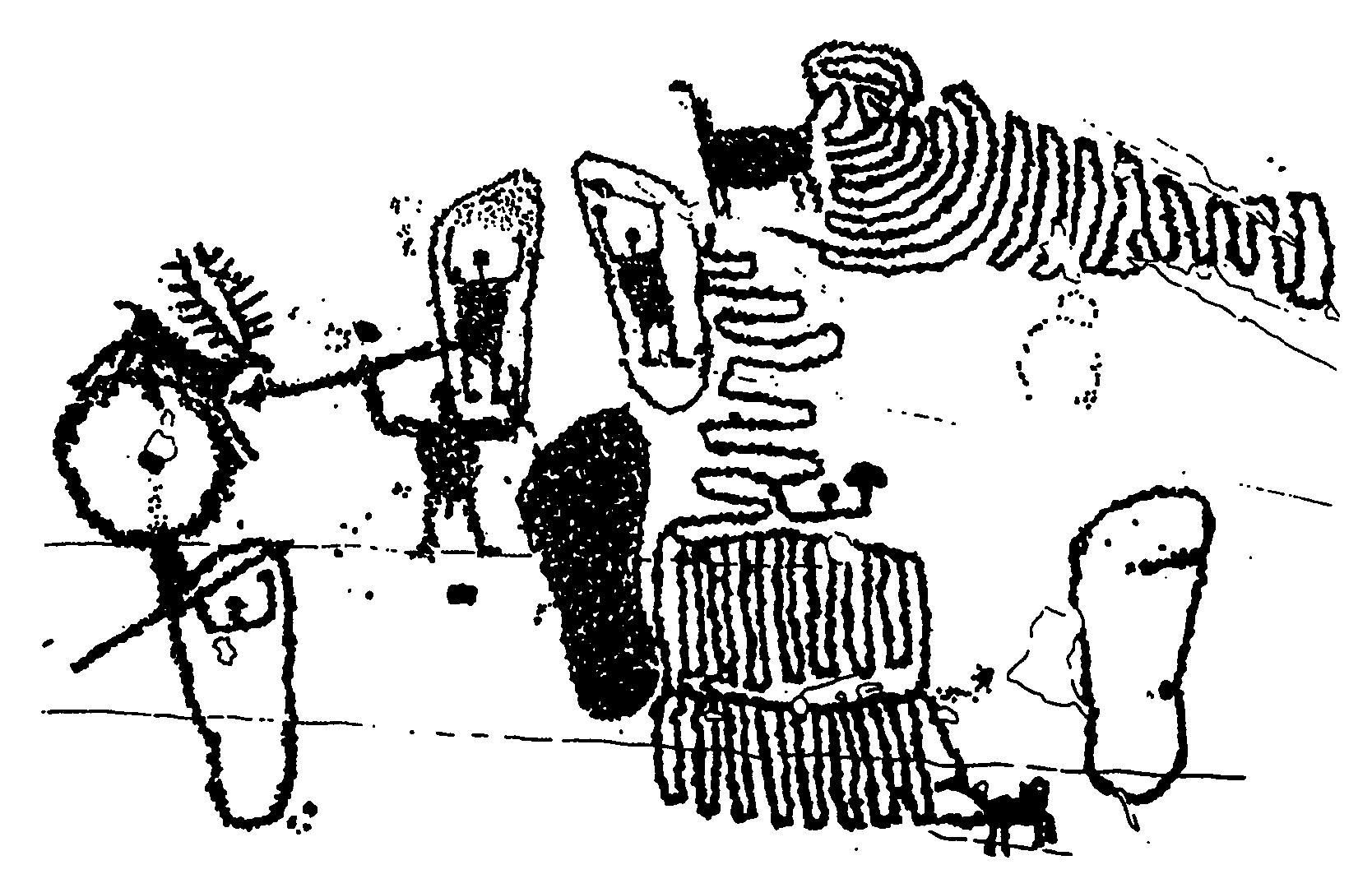 Рис. 11. Петроглифы в долине Валкамоника, итальянские Альпы. 850-700 гг. до н.э.