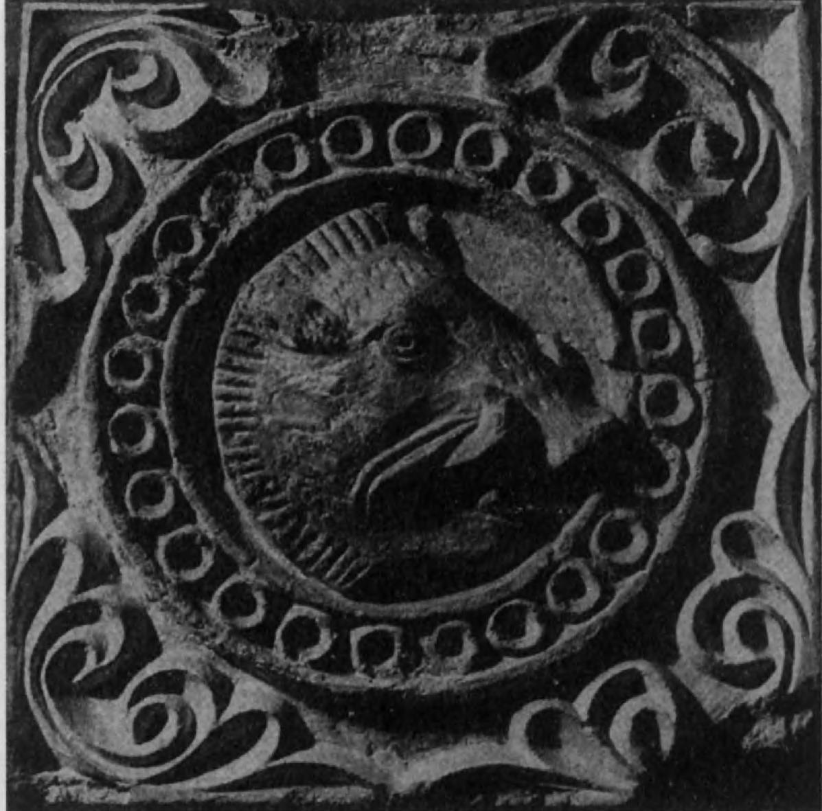 105.Дикий кабан — символ, очень широко распространенный в сасанидском искусстве. Эта голова вепря — часть штукового фриза (диаметр 37,5 см)