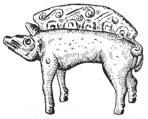 Рис. 50. Бронзовая фигурка кабана