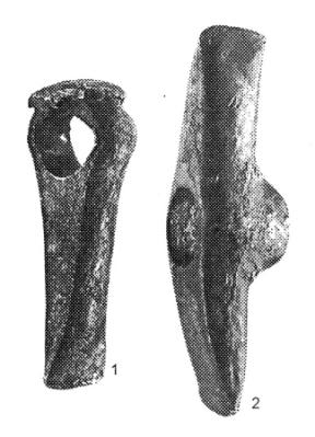 Рис. 16. Топоры, извлеченные из карьеров энеолитического рудника Аи Бунар.