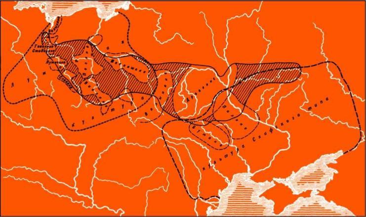 Союзы славянских племен по Нестору и археологические локальные группы эпохи Геродота