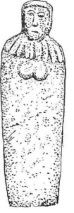 Каменная фигура — так называемая«Бабушка»изСент-Мартинса,островГернси