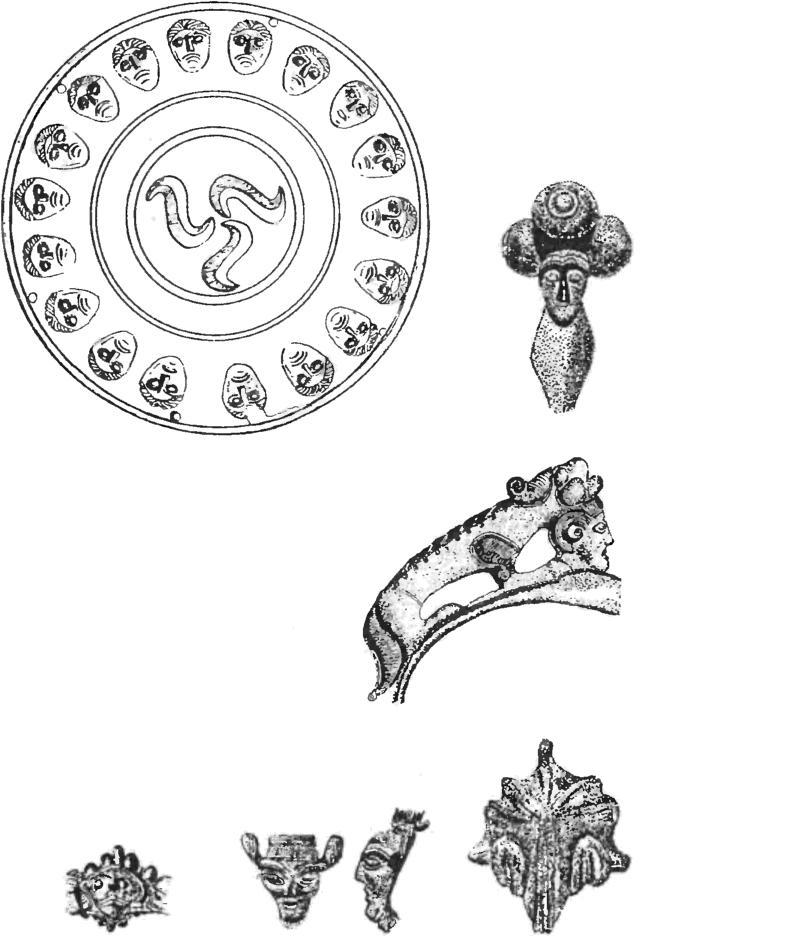 Образцы кельтских изображений голов