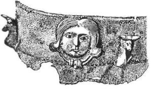 Фрагмент бронзового котла. Кельтское искусство.