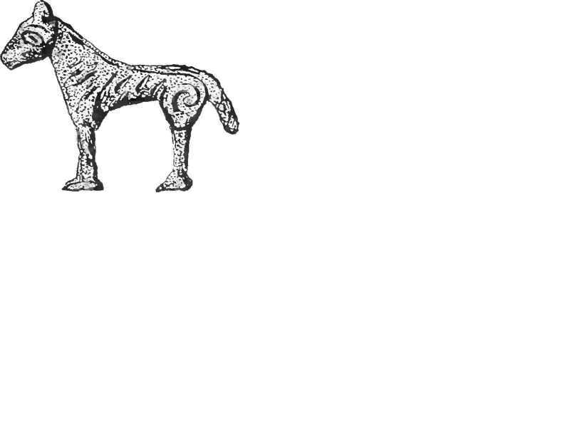Скульпиура лошади. Кельтское искусство.