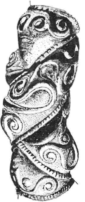Кельтское искусство. Фрагмент браслета.