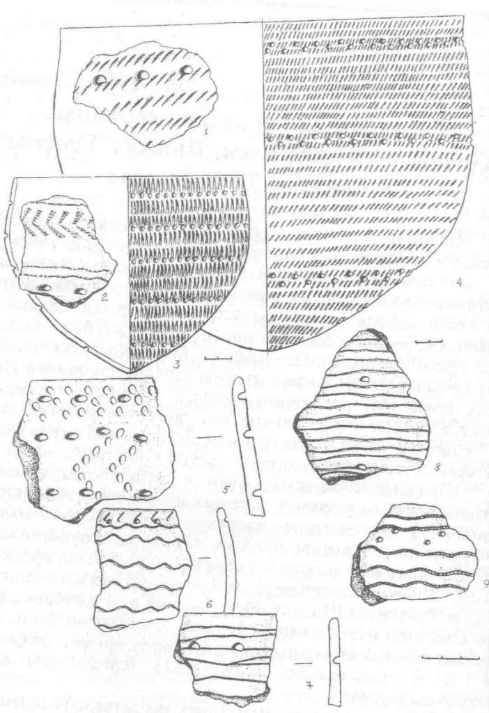 Рис.1 Керамика пос. Нижняя Тунуска-2