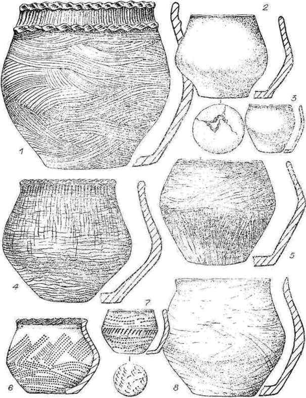 Рис. 1. Керамика могильника Сопка-2.