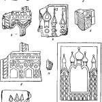 Рис. 55. Псковские керамические плиты-киоты (1—11).