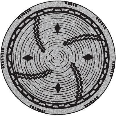 Рис. 10.2. Лоток для сушки, изготовленный индейцами чумаш