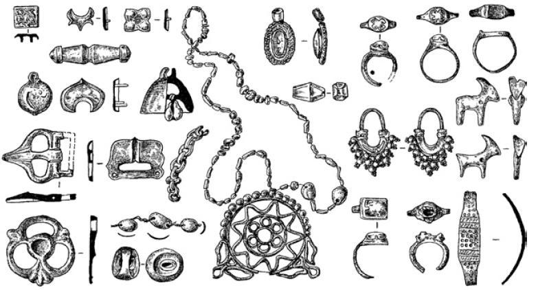 Рис. 4.39 Погребальный инвентарь Кок-Мардана и Мардан-Куика