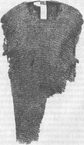 Рис. 81. Кольчуга, найденная в кургане «Ярлсхауг», Треннелаг, Норвегия, около 1750 г.