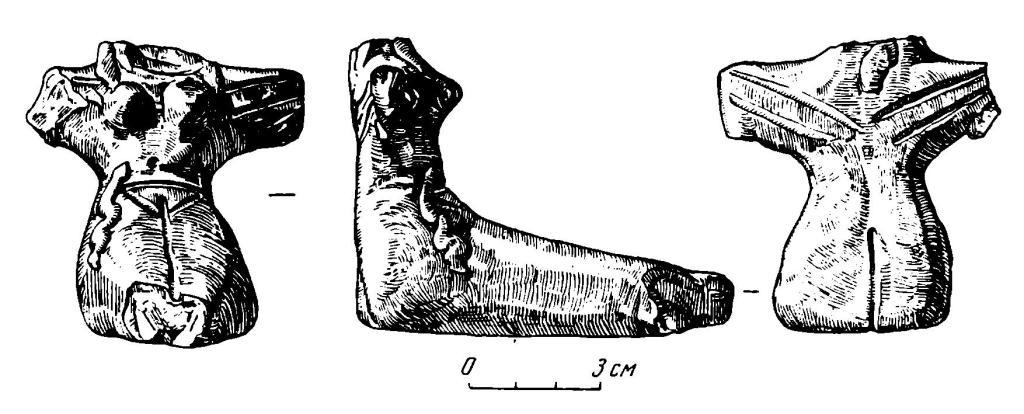 Рис. 2. Терракотовая статуэтка сидящей женщины