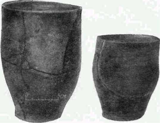 Глиняные сосуды из Колочинского городища