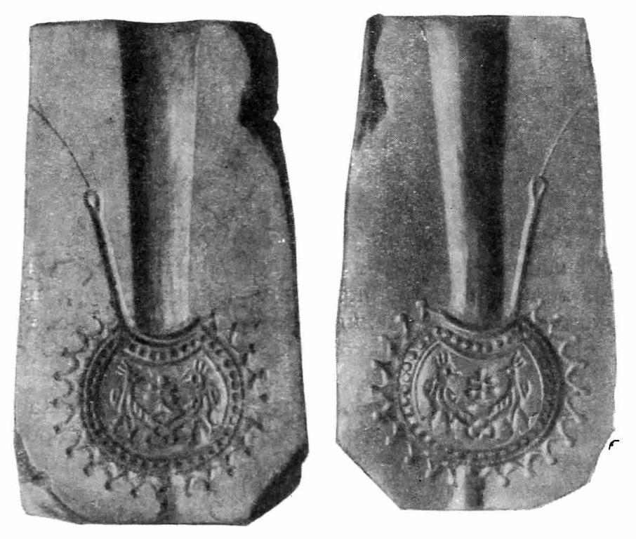 Рис. 10. Шиферная литейная форма для отливки колта